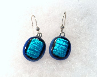 fused glass earrings E32