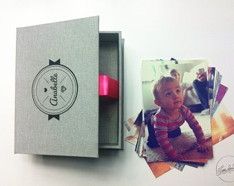 "Presentation Box 4""x6"" (10x15cm) Single Small, Photo Box /Photographer Photo Packaging or Gift Box/"