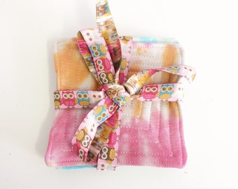 Handmade Tie Dye Set of 4 Fabric Coasters!