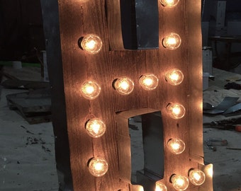handcrafted light up letter signs