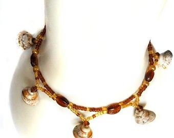 Brown Beaded Anklet