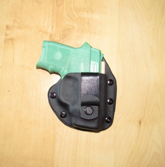 Leather and Kydex Hybrid Holster for the Bodyguard 380 with Crimson laser, EDC, IWB