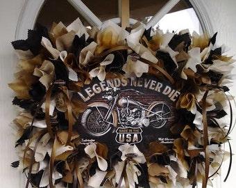 Harley Davidson Wall Decor - Halrey davidson fans - Biker fans - Biker decorations - Biker gifts