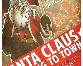 Santa Propaganda Poster #1