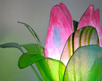 Lotus Lake flower lamp