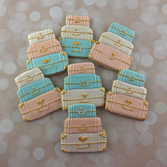 Travel themed suitcase wedding luncheon rehearsal dinner for Wedding dress travel case