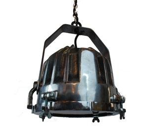 Nautical Pendant Light Aluminum Vintage