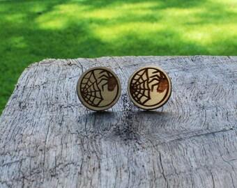 Spider Timber Earrings
