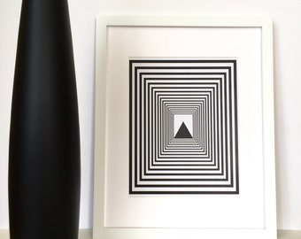 Geometric Art, Contemporary Art, Black Minimalist, Geometric Wall Art, Black and White Art, Geometric Print, Modern Art, Scandinavian Print