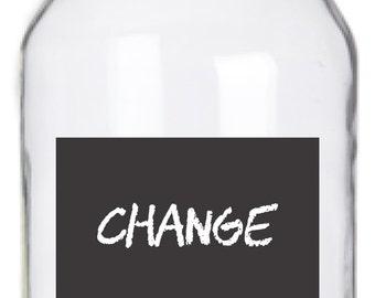 Mason Jar Chalkboard Labels - 14 Rectangle Labels