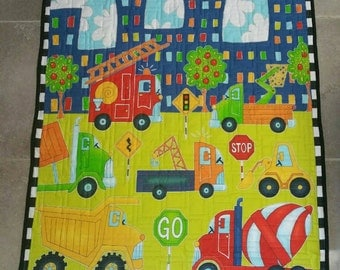Construction playmat | Etsy : construction quilt - Adamdwight.com