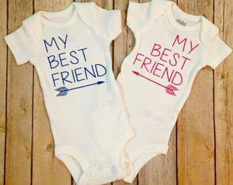 My Best Friend Twin Onesie Set