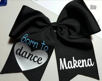 Personalized dance cheer bow