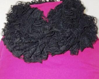 Black Lace Fabric scarf
