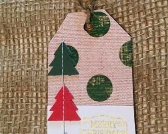 Large Green Polka Dot Gift Tag