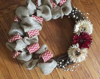 Burlap Wreath- personalized
