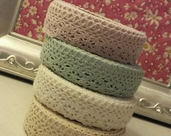 Fabric Lace Washi Tape Self Adhesive Stick On Pastel Shabby Chic Cotton Trim