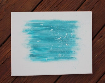 11x14 Blue and White Abstract