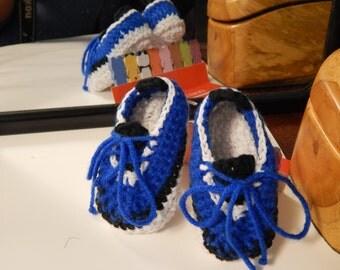 Crochet baby sport style sneakers