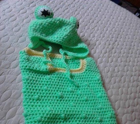 Frog Cuddlesac Crochet Pattern By CryBabyCloths On Etsy