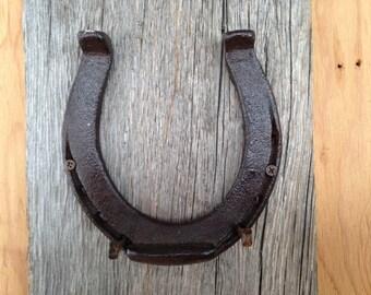 Scarf Hook, Jewelry Holder, Barnboard Horseshoe Wall Hook