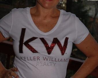 Keller Williams glitter &  rhinestone  bling  shirt,  all sizes XS, S, M, L, XL, XXL, 1X, 2X, 3X, 4X, 5X