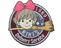 1989 Kiki's Delivery Service Patch Embroidered Animation Sew on Iron on Patches