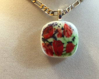 Hand Painted Pendant #8