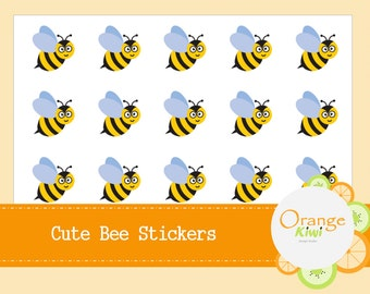 Cute Bee Stickers - Bee Planner Stickers - Spring Bee Stickers