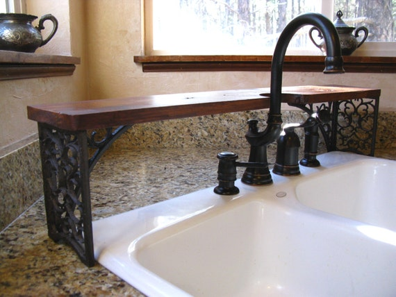 shelf over bathroom sink ornate the sink shelf wrought iron look cutout for 20355