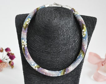 Handmade beaded necklace. Elegant and one of kind. High quality components.