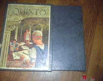 vintage 1964 Quinto game fascination of numbers.number 5