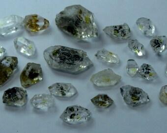 Amazing Slightly Included Petroleum Diamond Quartz From Baluchistan Pakistan Size====10x8x6mm to 25x14x11mm