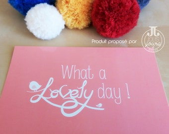 What a lovely day rose postcard