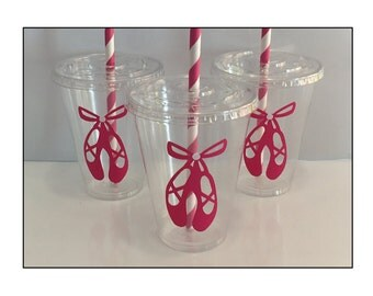 Ballerina Themed Party Cups