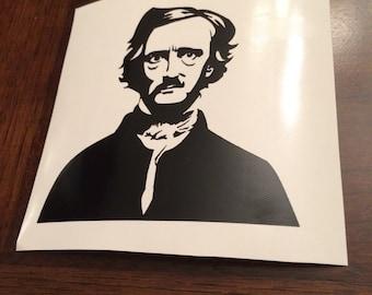 Edgar Allen Poe decal | Poe | poem | Raven | Baltimore