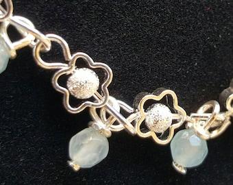 SALE! Light Blue/Faceted Aquamarine Bracelet!!