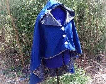 Blue Sky Hooded Riding Cloak
