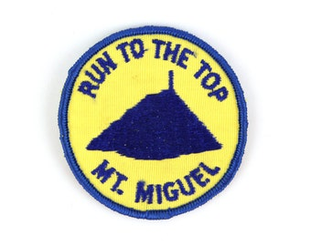 Run To The Top Mt. Miguel Vintage Patch