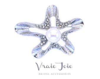 Wedding Brooch, Wedding Jewellery, Crystal, Rhinestone, Pearls, Brooch