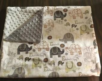 Gray Elephant blanket