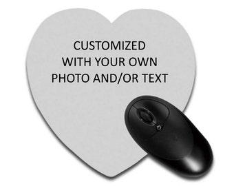 Personalized Heart Shaped Mouse Pad - Customize with your own photo