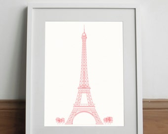 Tour Eiffel Red Limited Edition - Art print