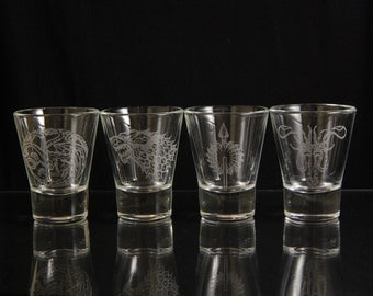 Set of 4 - Game of Thrones Shot Glasses