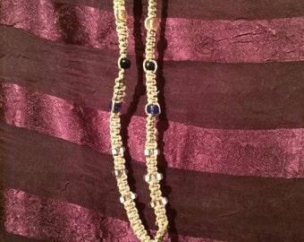 Hippie hemp beaded necklace