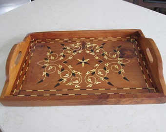 Vintage Wooden Inlay Tray