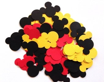 Mickey Mouse Confetti/ Mickey Mouse Party Decorations/ 100 pcs/ Mickey Mouse Baby Shower/ Mickey Mouse Birthday Party/ Mickey Mouse Party