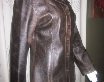Wilsons Distressed Brown Leather Jacket