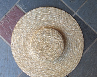 Colonial Low Crown Straw Hat Blank