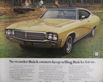 """1969 Buick Skylark ad.  """"Wouldn't you really rather have a Buick?""""  Vintage Buick ad. Full Color.  Look Magazine.  Dec 24, 1968."""